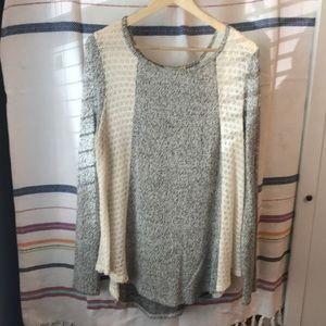 Sweaters - Two tone flowy sweater
